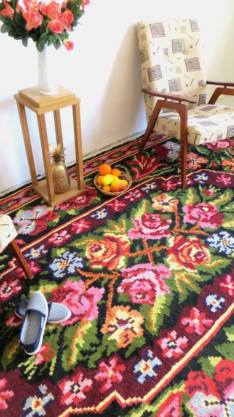 2.02x3.60m/6.62x11.81ft,Tapis Kilim Laine,turkish Kilim Rug,floral Rug,wool  Carpet,tapis Floral,bohemian Rugs,tapis Boheme,azilal Rugs,boho   Pasillo  Ikea, ...