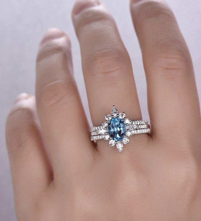 Blue Topaz Ring December Birthstone Blue Topaz Wedding Ring Etsy Topaz Wedding Ring Blue Topaz Wedding London Blue Topaz Engagement Rings