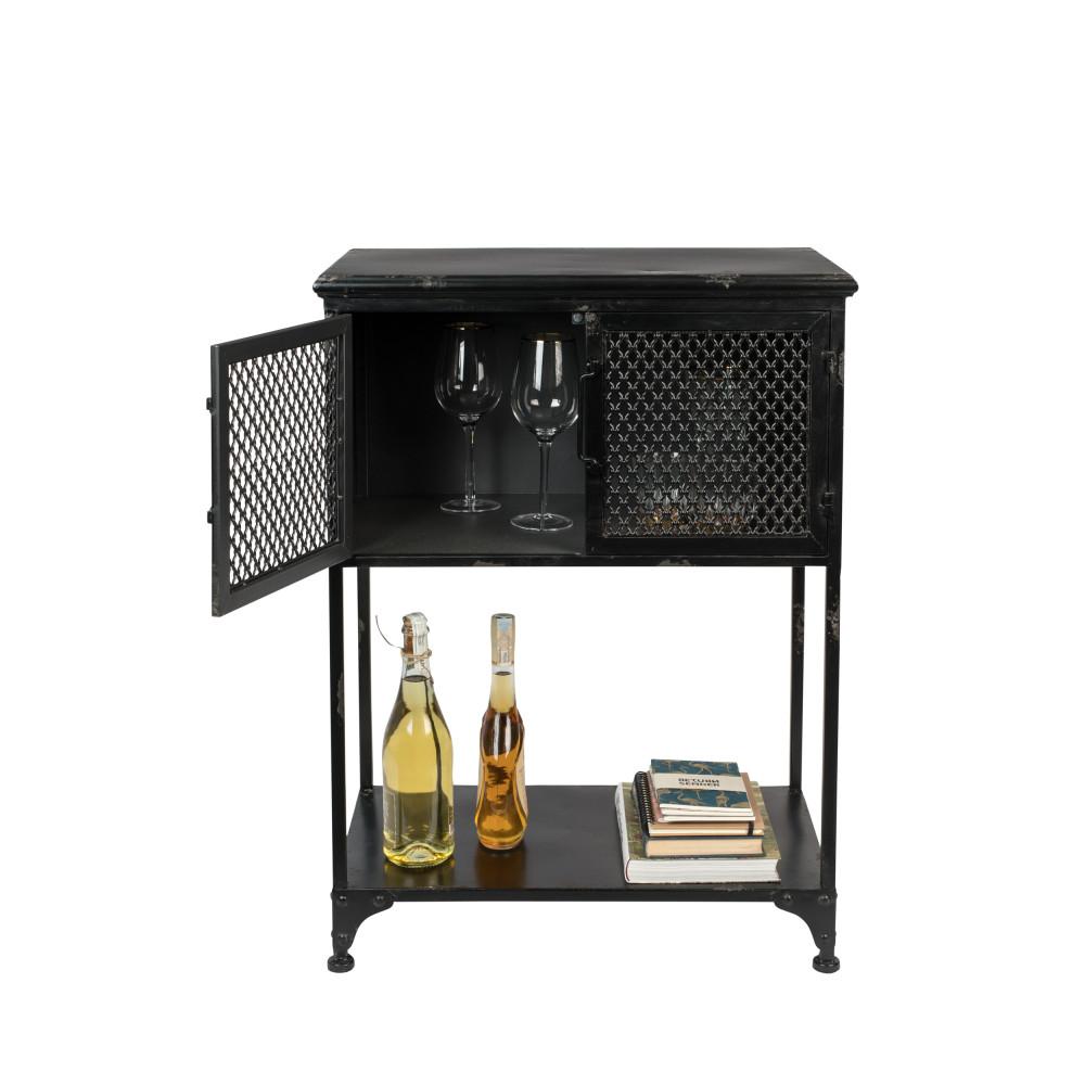 Denver Mini Bar En Metal En 2020 Mini Bar Vitrine Vintage Casier A Bouteille