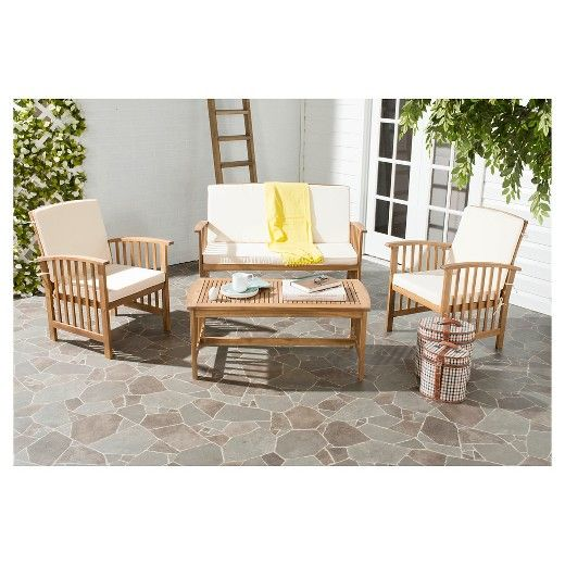 Wonderful The Safavieh Santorini 4 Piece Patio Conversation Set Transforms Your Green  Space Into The Place To Be. This Patio Furniture Set Includes A Loveseat,  ...