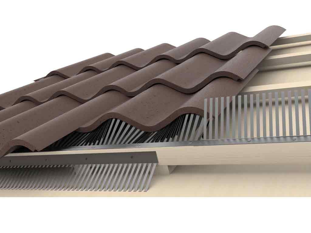 VentiStrip vogelschroot onder dakpannen