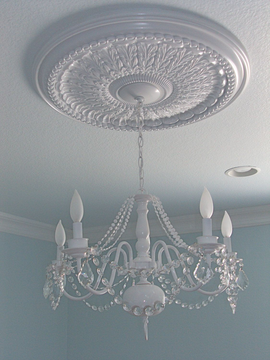 Ceiling medallion w refurbished chandelier kids rooms bath ceiling medallion w refurbished chandelier kids rooms bath dining living arubaitofo Choice Image