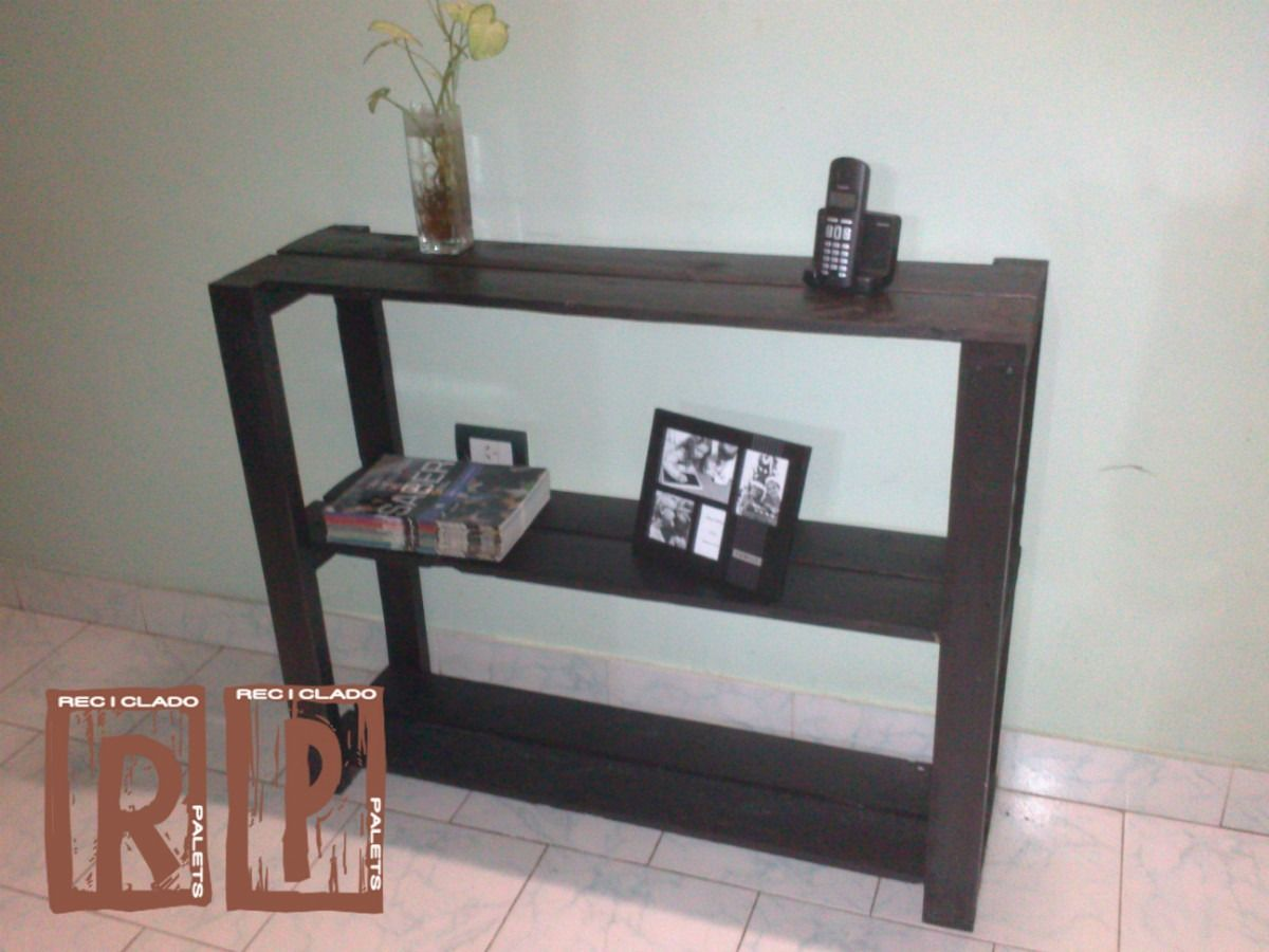 Mesa de arrime rustica de madera reciclada de palets - Mesa de palets bricolaje ...