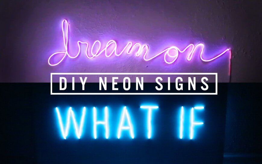 96 Diy Room Decor Ideas To Liven Up Your Home Diy Neon Sign
