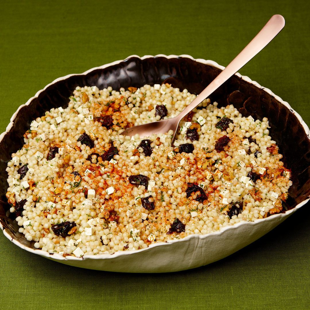 Toasted Israeli Couscous With Prunes Feta And Walnuts