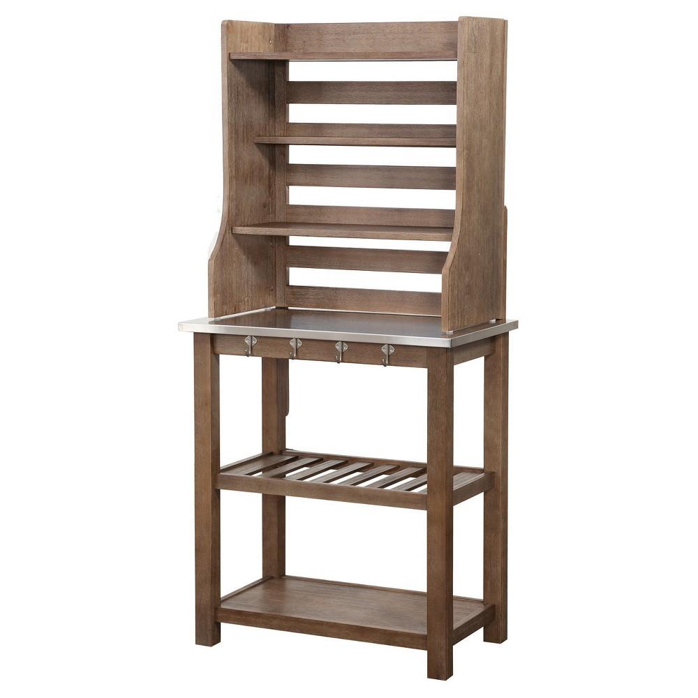 Hadley Baker S Rack Gray Wirebrush Boraam Bakers Rack Nebraska Furniture Mart Rustic Bakers Racks