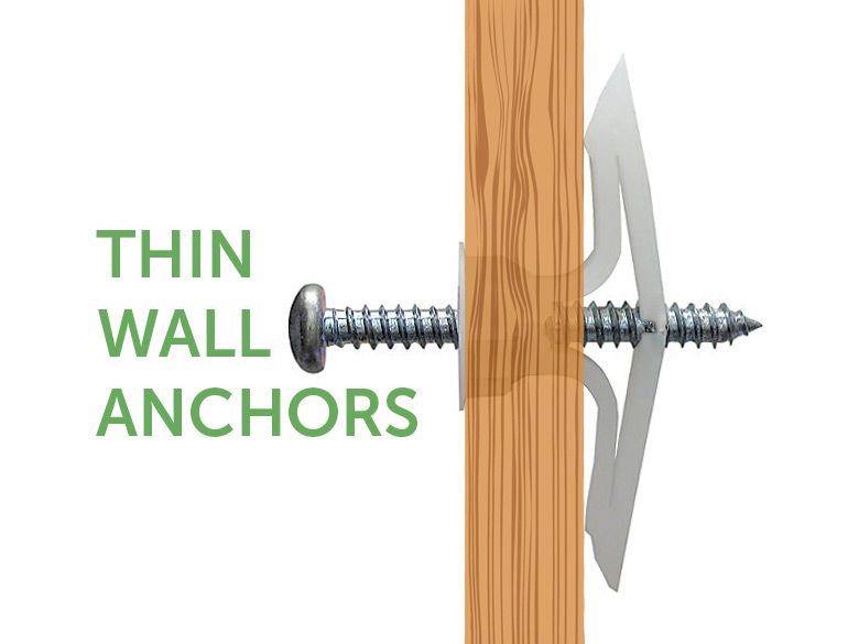 Thin Wall Anchors For Hanging Also Great For Hollow Walls Doors Mobile Home Repair Wall Anchors Mobile Home Repair Mobile Home