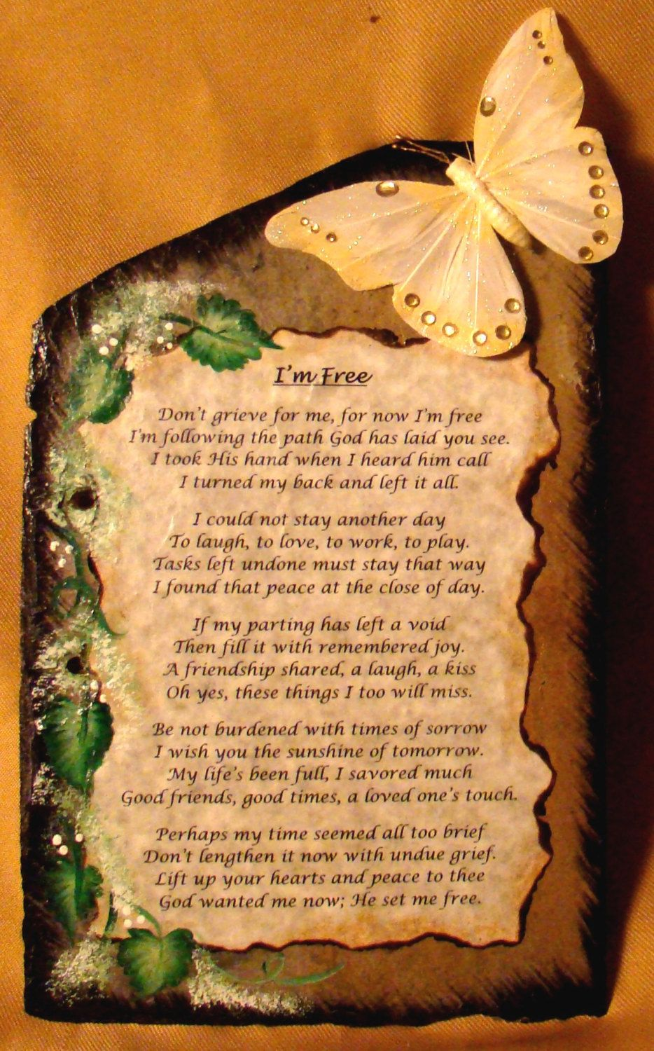 Im free can be personalized unique memorial keepsake for