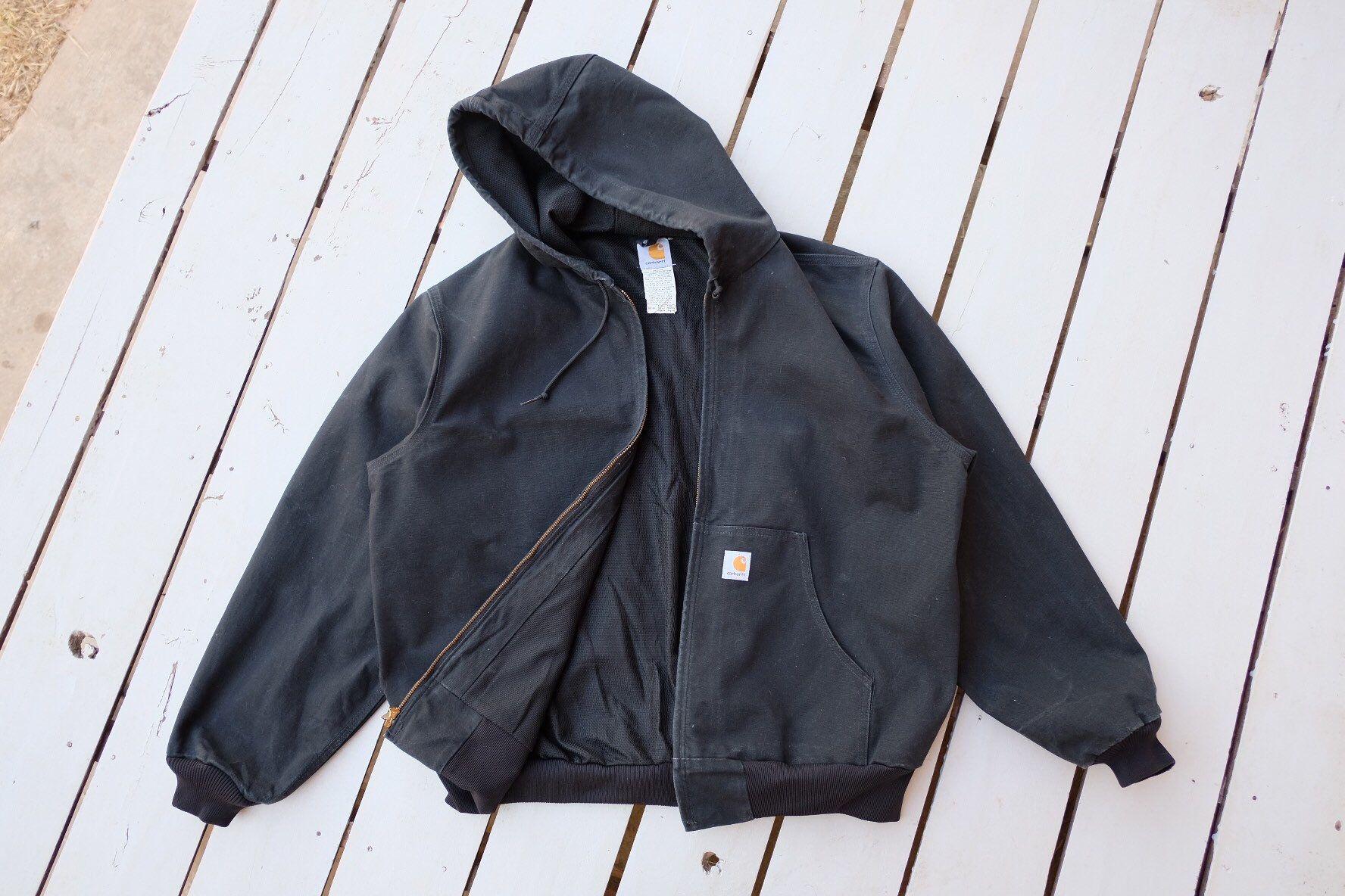 Rare Carhartt Jacket Carhartt Workwear Hoodie And Zipper Etsy Carhartt Workwear Carhartt Jacket Jackets [ 1184 x 1776 Pixel ]
