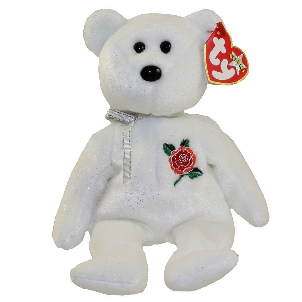 TY Beanie Baby - ROSE the Bear (UK Exclusive) (8.5 inch) - MWMTs Stuffed  Animal  bf9f50246779