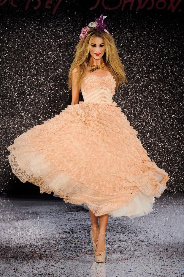 Vintage Wedding Dress Inspiration Betsey Johnson Spring Summer