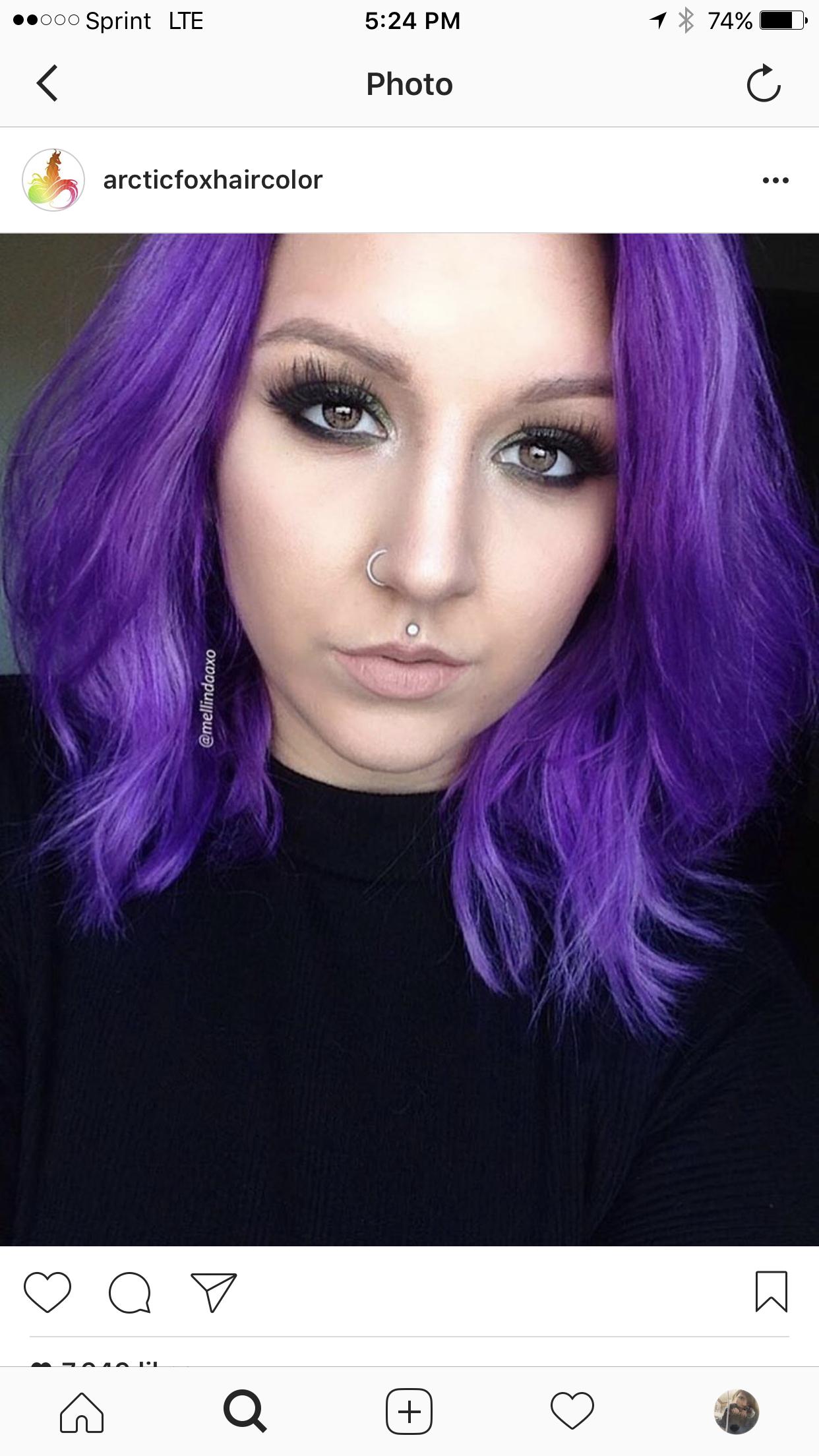 Purple Rain Arctic Fox Hair Coloring Hair Color Images Purple Hair Arctic Fox Hair Color