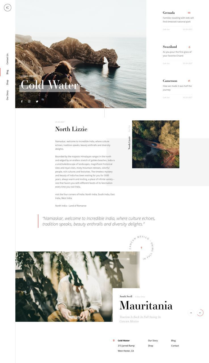 Cold Water Blog By Tom Rich Dribbble Website Design Layout Web Layout Design Website Design Inspiration