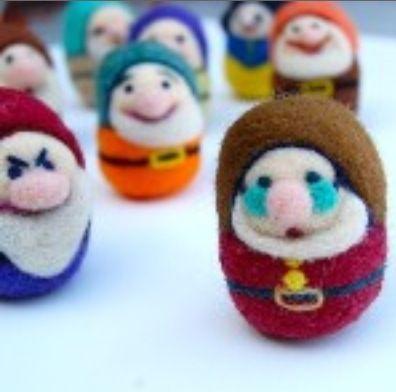 Disney Seven dwarfs needle felting