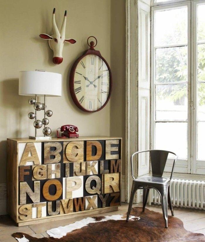 buchstaben deko eine untypische doch attraktive weise den raum aufzupeppen wanddekoration. Black Bedroom Furniture Sets. Home Design Ideas