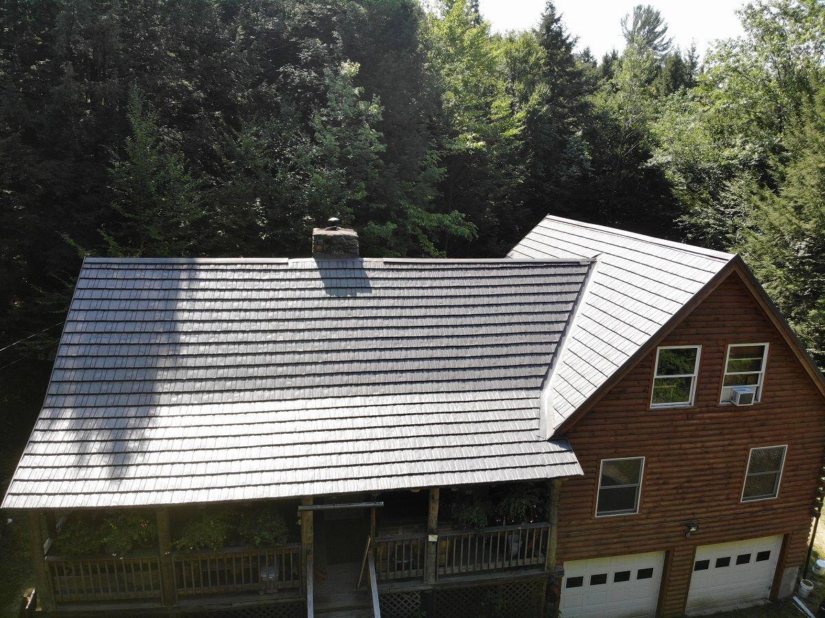 Rustic Shake Classic Metal Roofs Llc Stow Ma Metal Roof Metal Shingle Roof Metal Shingles