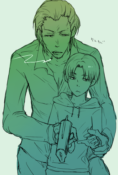 ウツギ Levi Ackerman under the guidance of Kenny Ackerman. / Attack on Titan / Shingeki no Kyojin