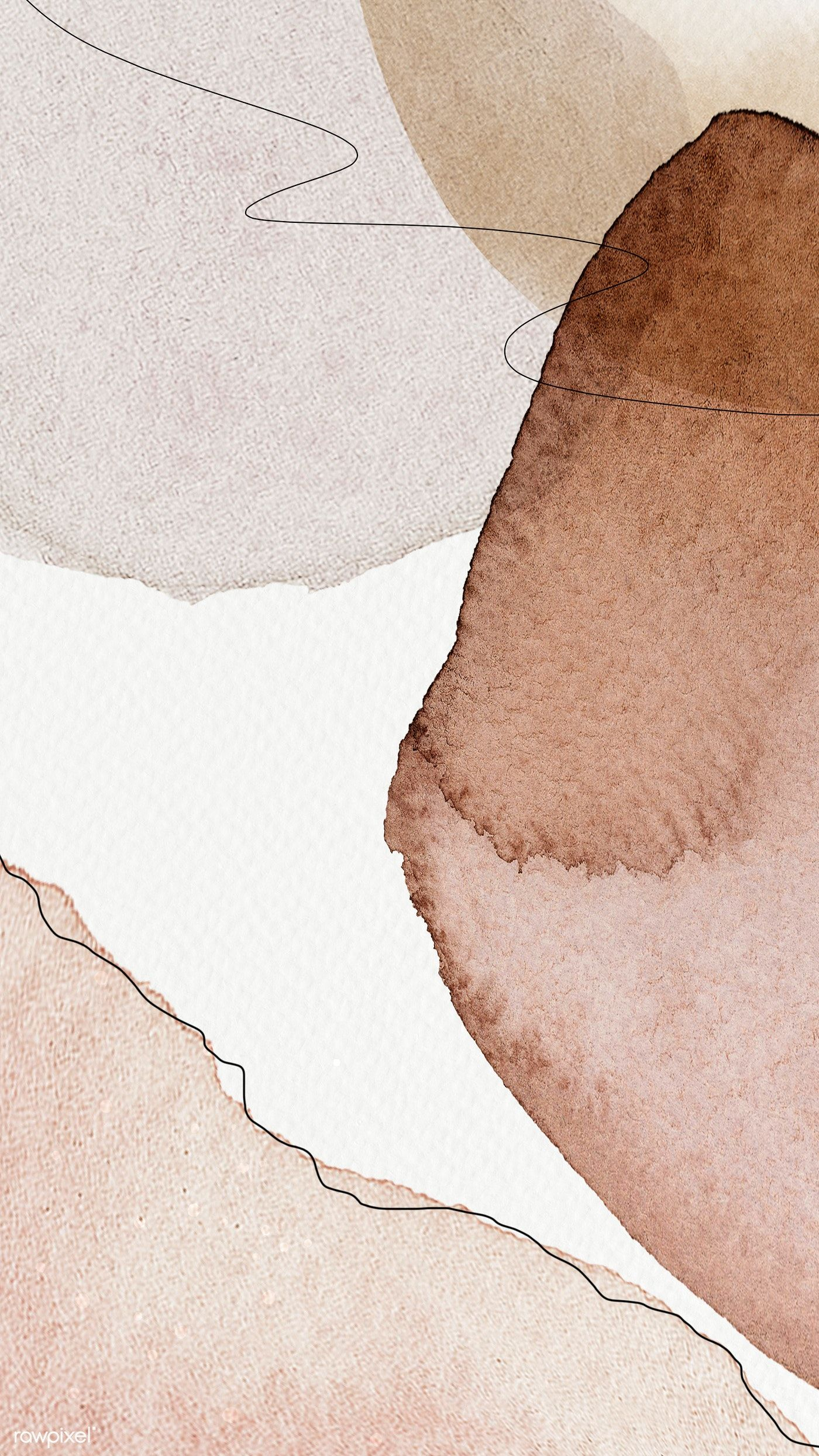 Download premium illustration of Earth tone abstract