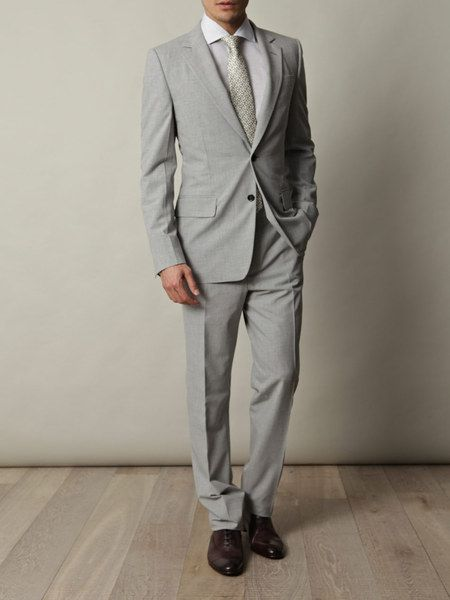 3a6361f81ba Yves Saint Laurent Prince Of Wales Summer Suit in Gray for Men (grey ...
