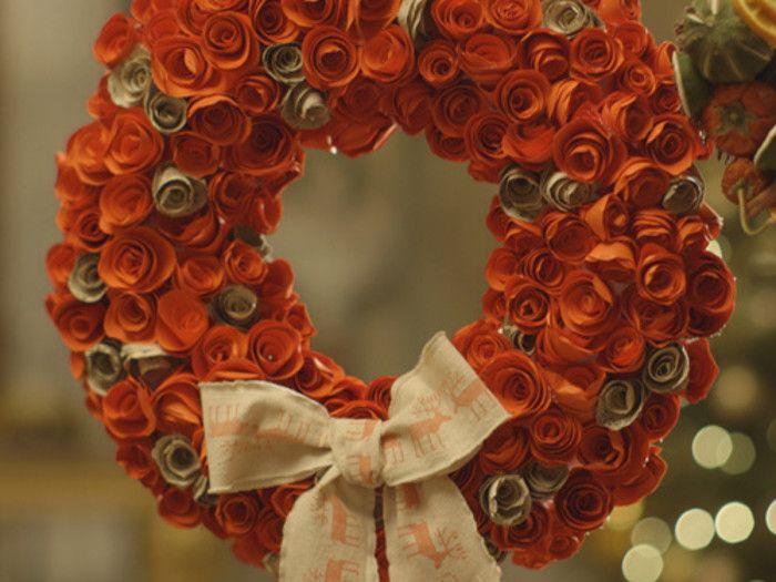 Paper Rose Wreath