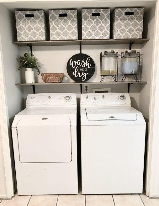 Small Farmhouse Laundry Room Ideas. #small farm house Laundry room ideas #homed….