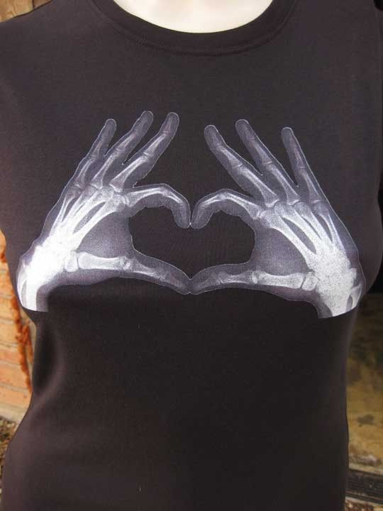 8254805b Heart of Xray Hands TShirt by zedszombieranch on Etsy, $20.00 ...