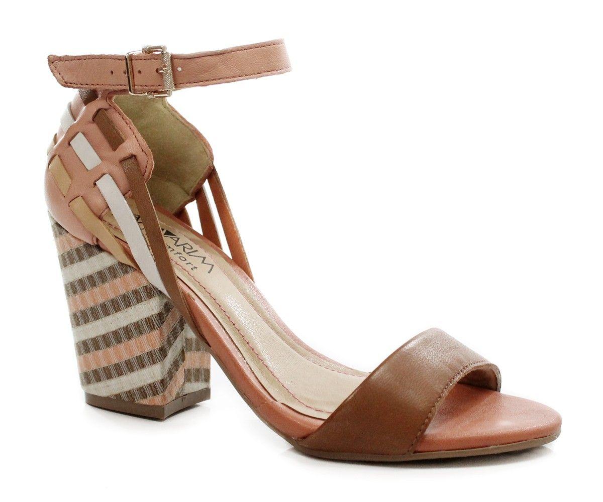 060d4350f1 sandalia salto grosso ramarim - Pesquisa Google Armário De Sapatos