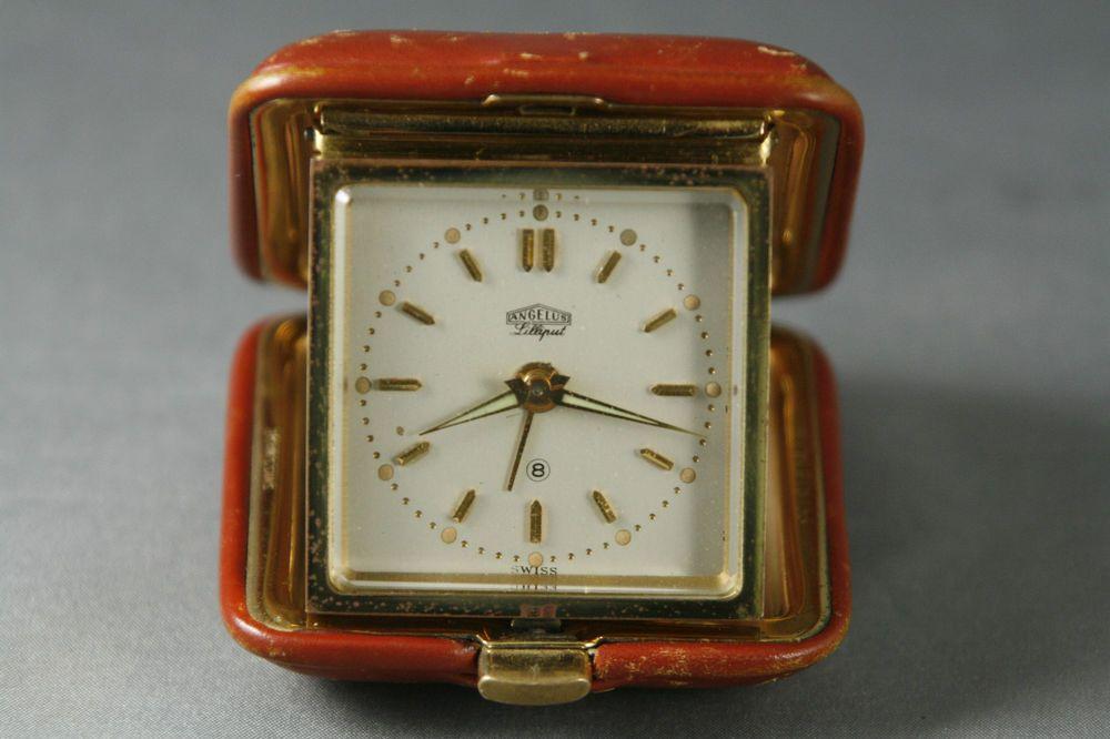 Vintage Swiss Wind Up Travel Alarm