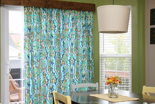 Diy Window Treatment For Sliding Glass Doors Amy Butler