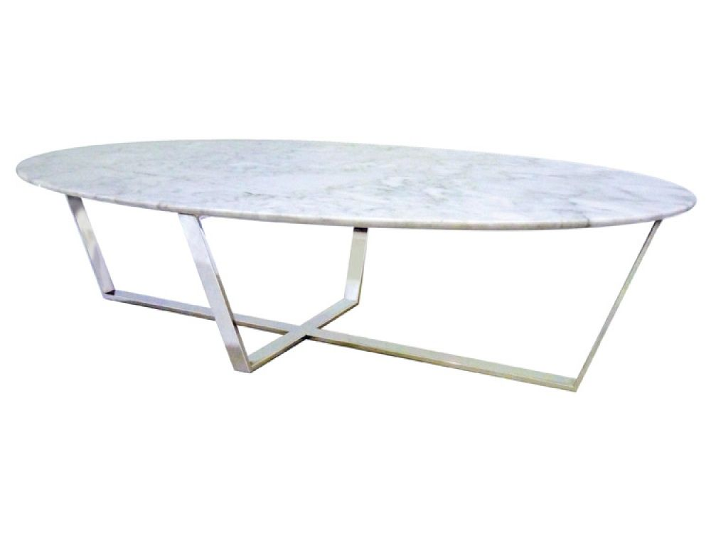 verona white oval marble coffee table - free delivery | furniture