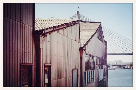 Back in the 80's I lived in this now demolished boatshed, Glebe Point Rd, Sydney harbour.