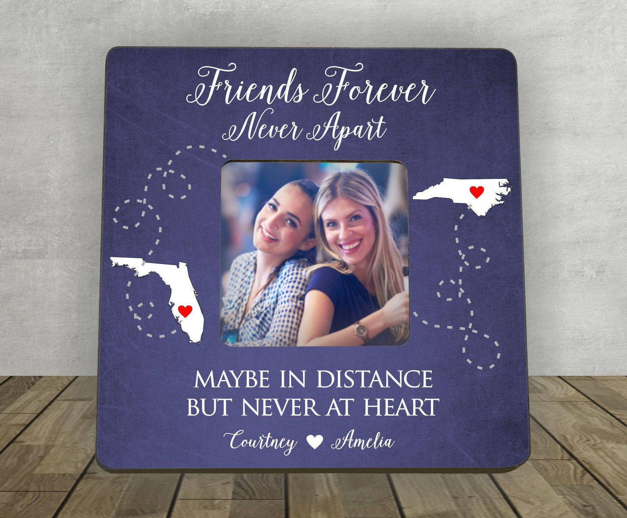 Best friend gift personalized picture frame friends
