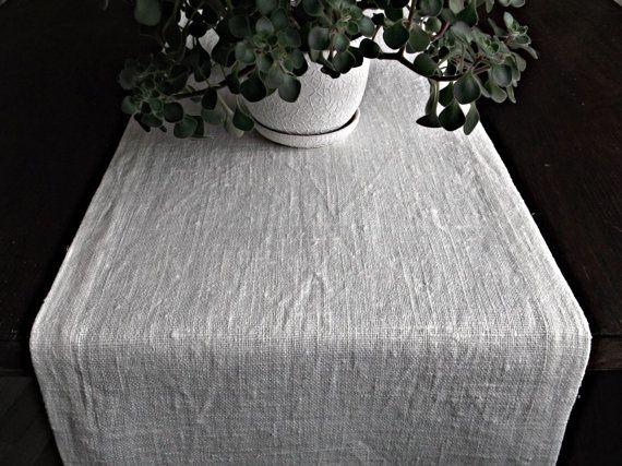 Off White Linen Table Runner Extra Long Dining By HomelikeLinen