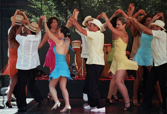 Rueda de Casino (Rueda, Casino Rueda, Salsa Rueda) is a particular type of round dancing of Salsa. It was developed in Havana, Cuba in the late 1950s and early 1960s by the group Guaracheros de Regla and one of its main choreographers and creators was Jorge Alfaro from San Miguel del Padrón, a soloist of a comparsa.