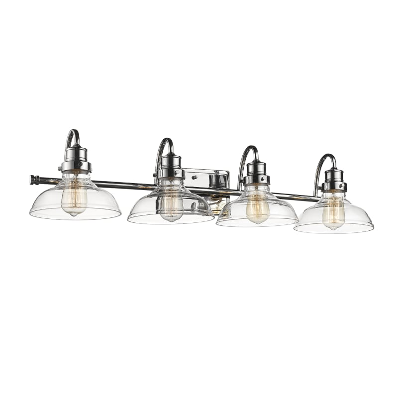 Photo of Millennium Lighting 2314-CH Chrome 4 Light 35″ Wide Bathroom Vanity Light with Glass Shades