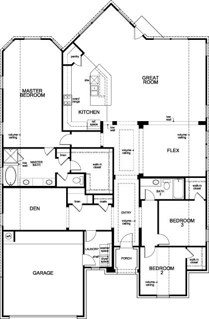 showing first floor of new built-to-order home, plan 2625 modeled