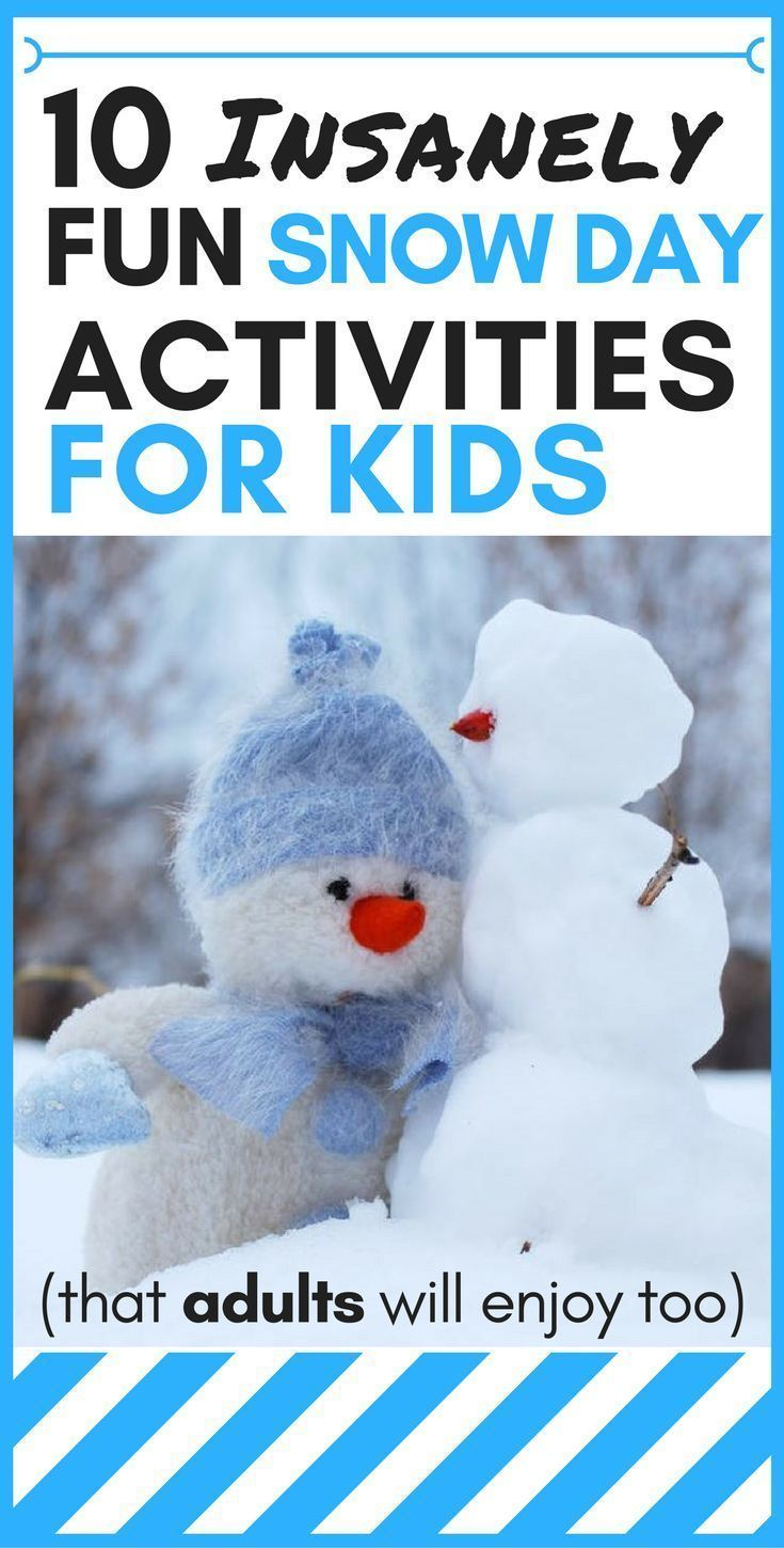 10 Insanely Fun Snow Day Activities for Kids (that adults will enjoy too) - Cynical Parent #snowdayactivitiesforkids