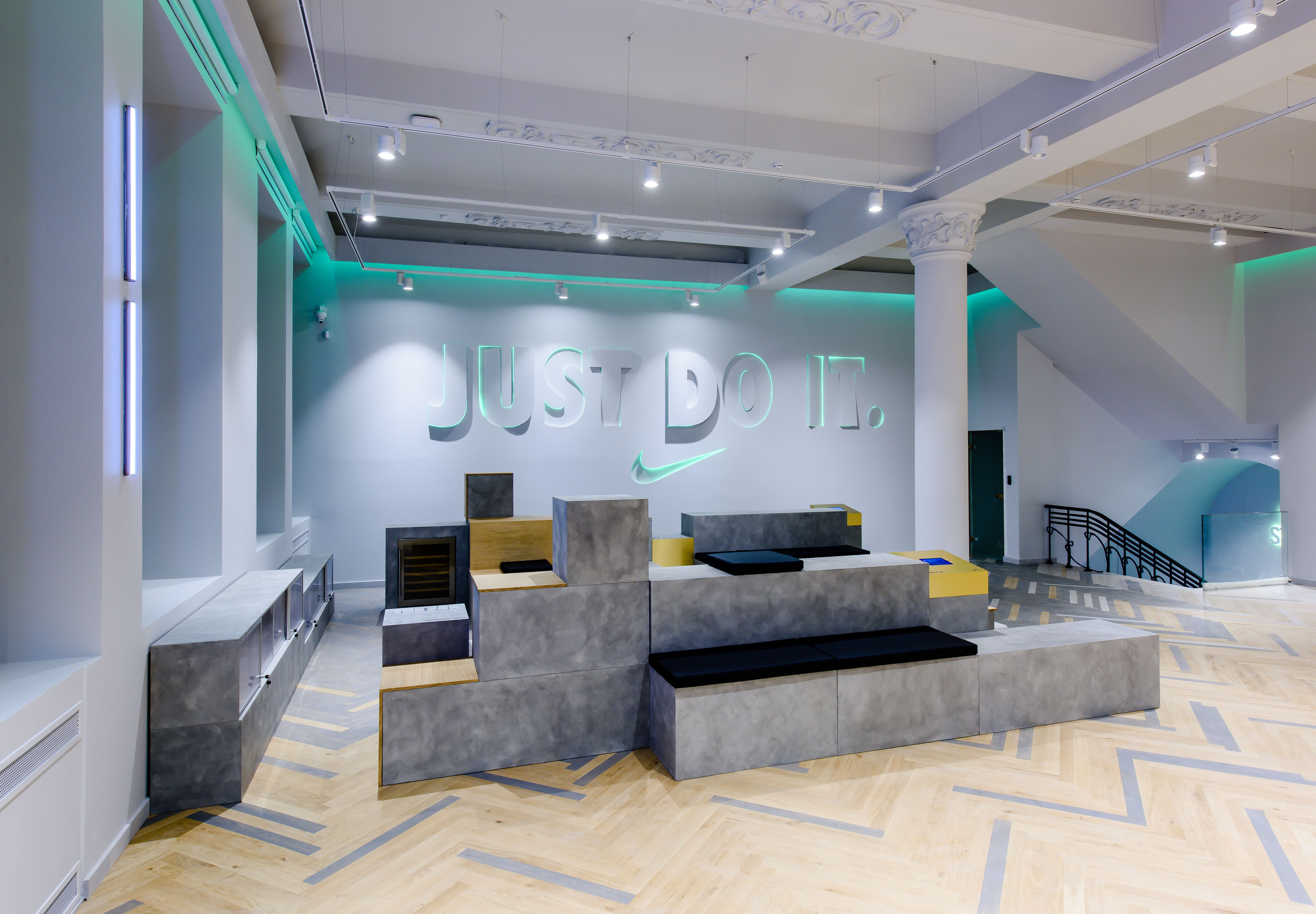 290sqm Amsterdam Just Do It New Nike Moscow Store Ntc Training Space Design By