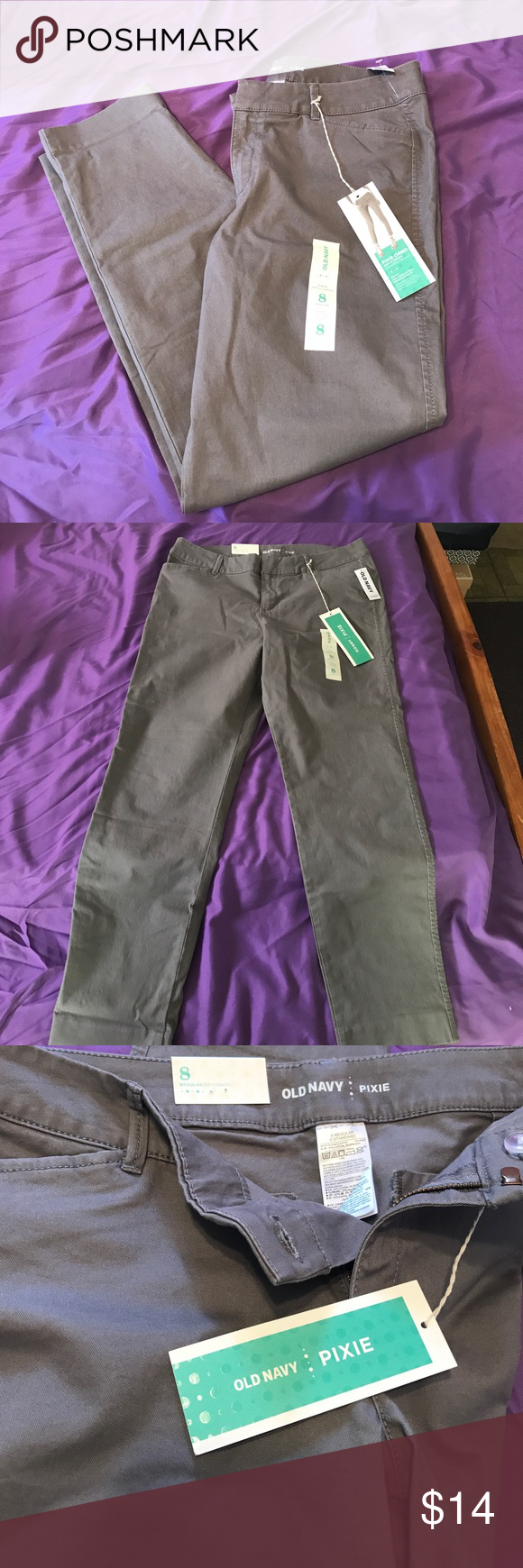 Old Navy Pixie Pants Old Navy Pixie Chino ankle length regular size 8 - never been worn! Still have the tags on them! Old Navy Pants Ankle & Cropped