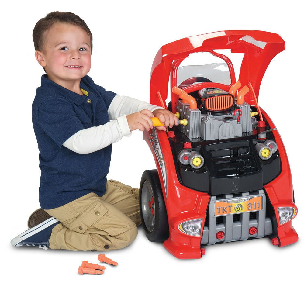 My Little Auto Mechanic Super Set Toy Get Under The Hood And Fix This Toy Car Engine Up Car Mechanic Mechanics Kids Toy Car