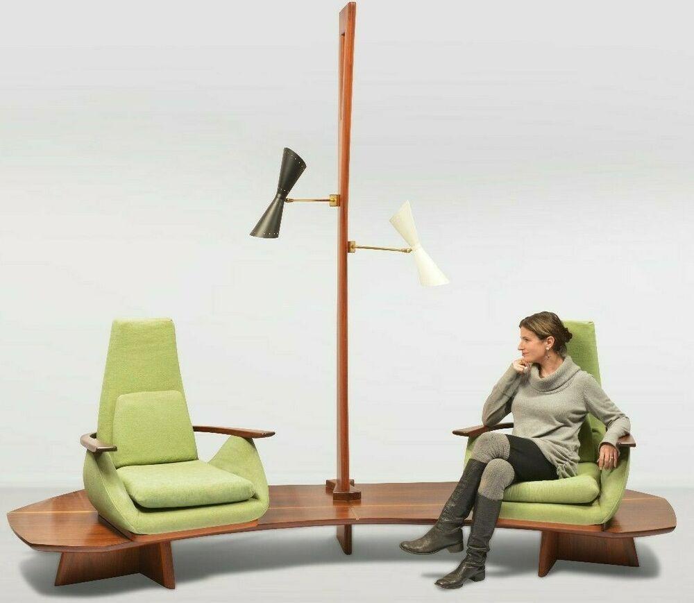Mid Century Yellow Floating Lounge Chair: Mid Century Modern Samson Berman Integrated Sofa Chair
