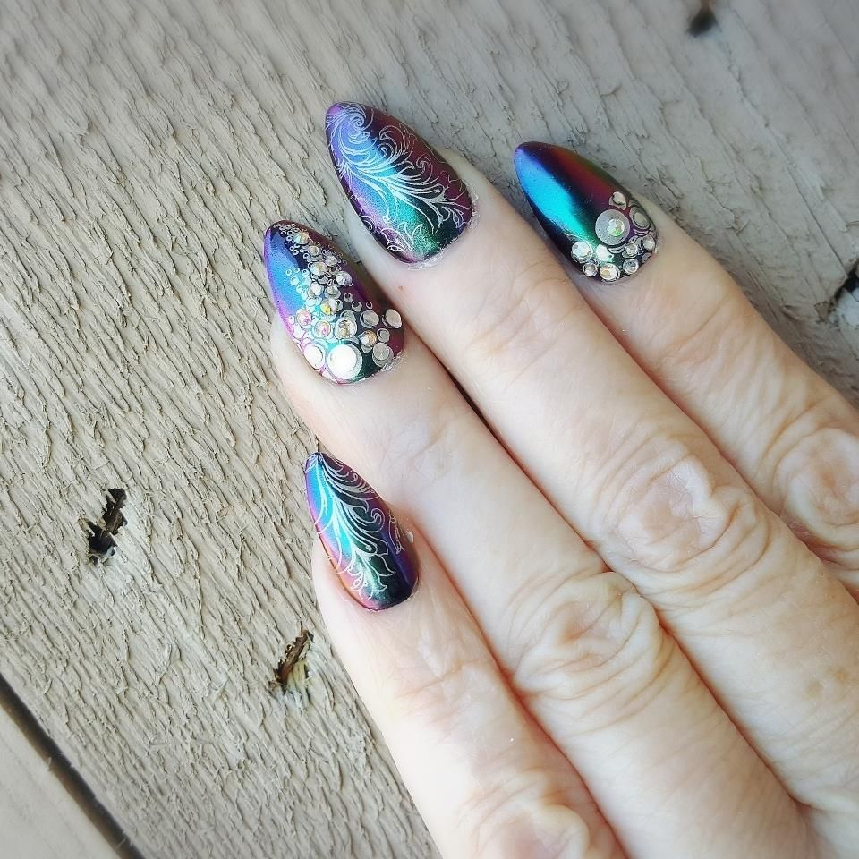 Manicure $40 | Nail Art Ideas | Pinterest | Nail printer, Salon ...