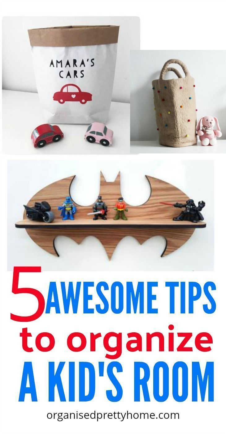 5 Awesome Tips To Organize Kids Rooms is part of Organization Bedroom Kids - 5 Awesome Tips To Organize Kids Rooms  Want to know what to do about your child's messy bedrooms  Find out how to teach your kids to declutter and organize their own rooms  Small bedroom  Shared  Closet space ideas  Boys  Girls