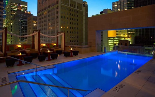 The Joule in Dallas has a rooftop pool that extends over the street. & Daily Daydream: The Pool at The Joule Dallas Texas | Rooftop ... memphite.com