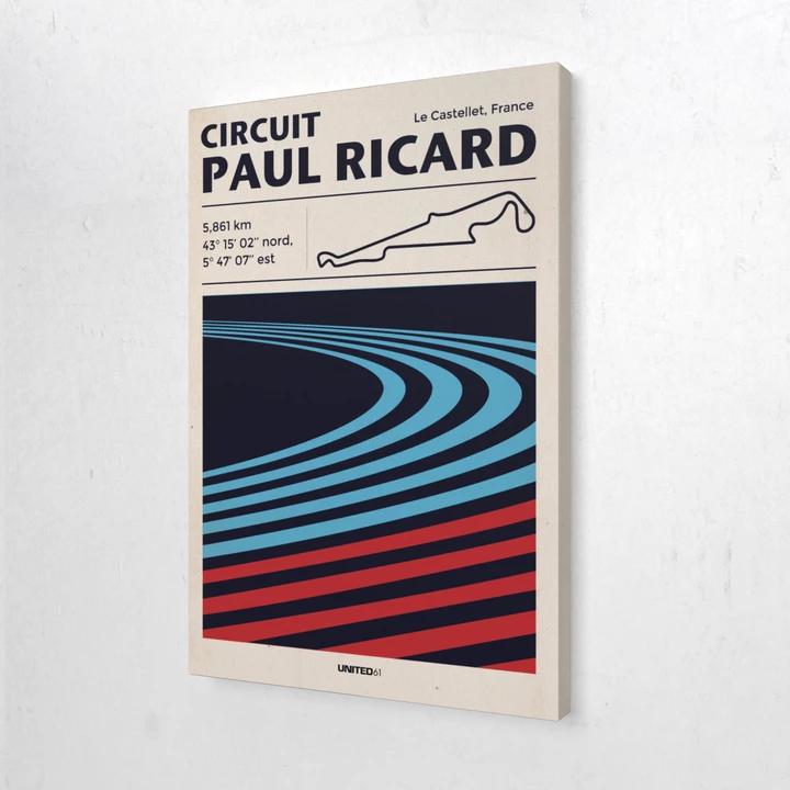Toile & Poster Circuit Paul Ricard Ricard, Bande rouge