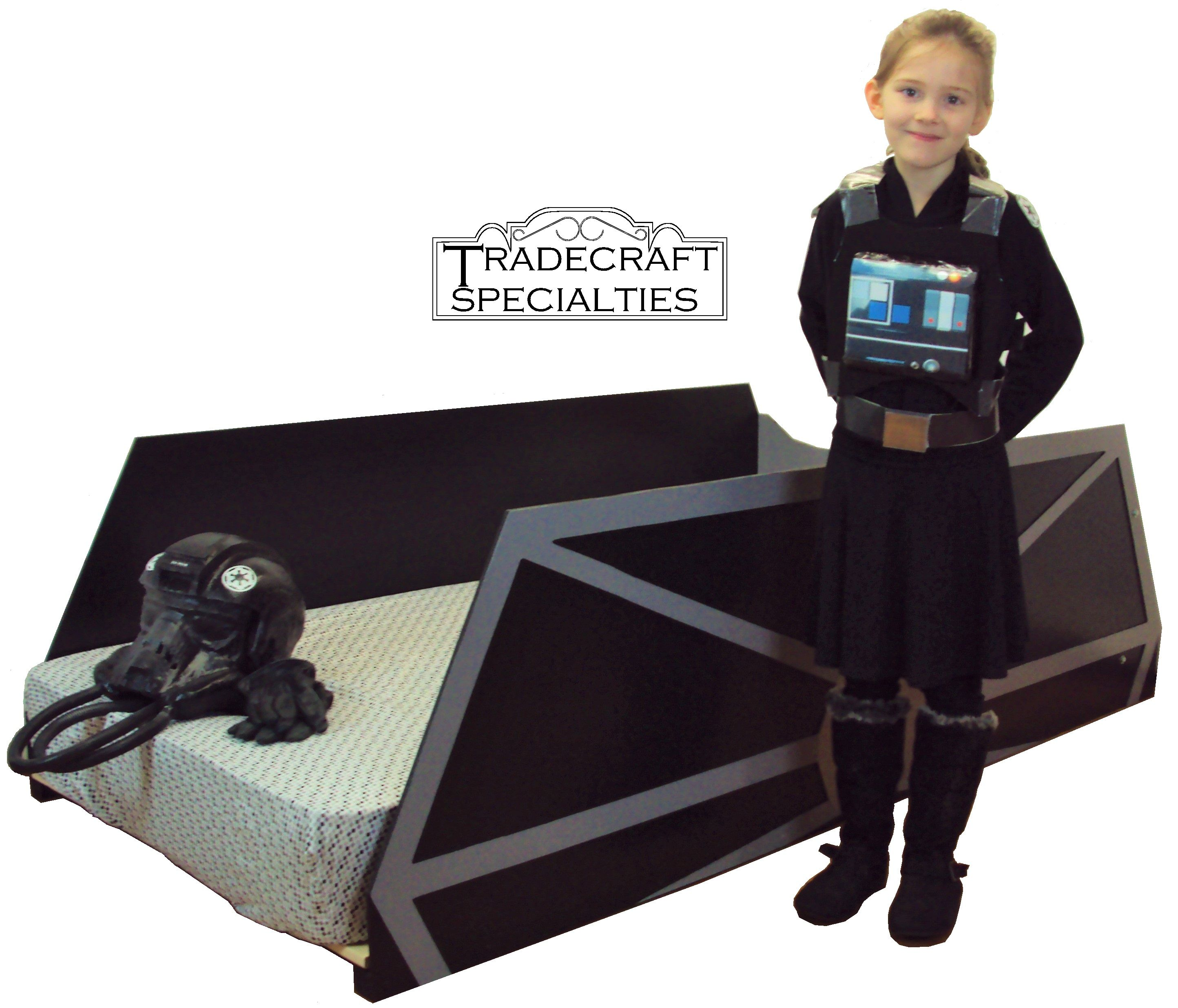Tie Fighter Twin Bed Frame Star Wars Themed Star Wars Bed Star Wars Twin Bedding Star Wars Bedroom Decor