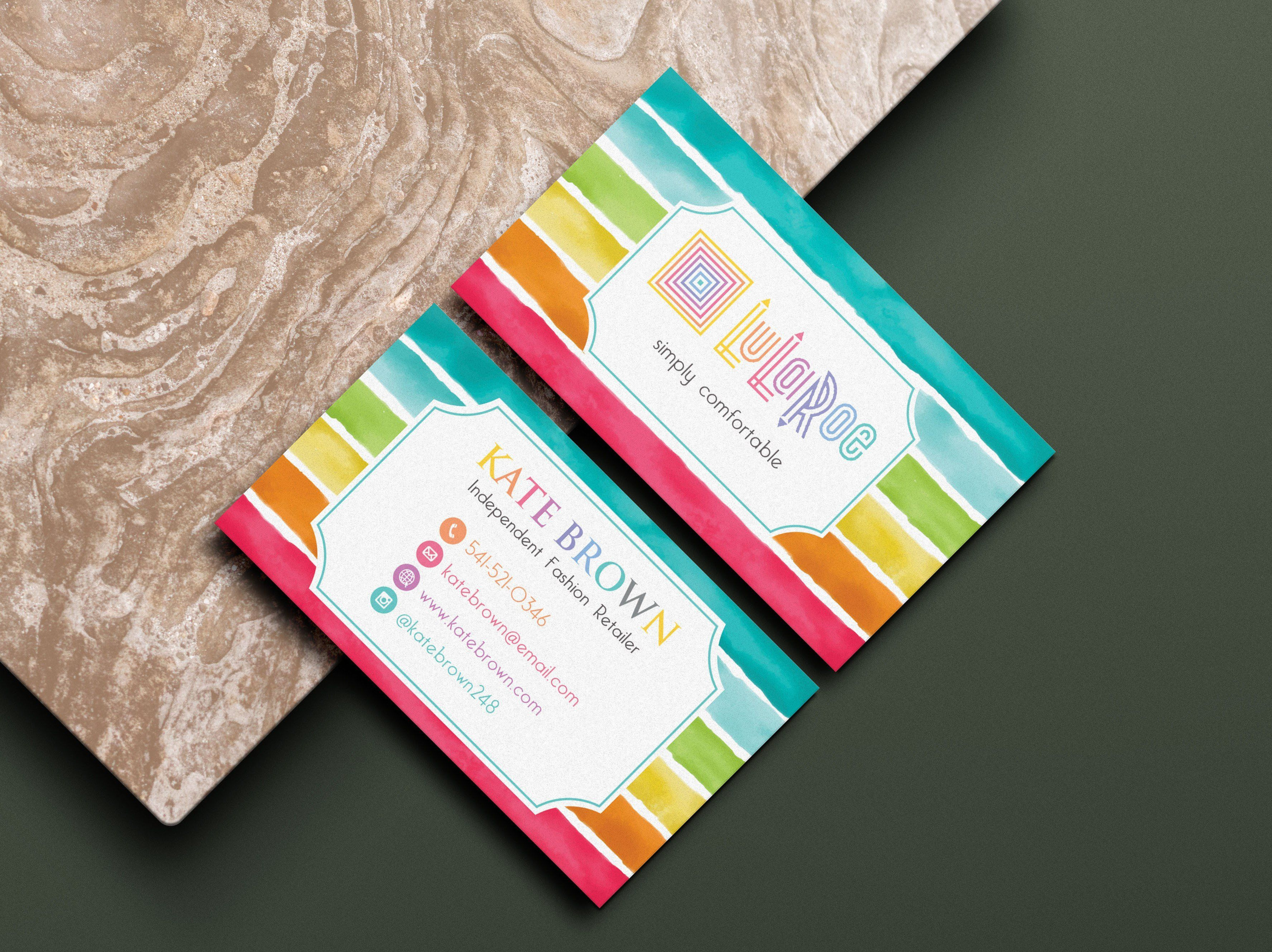 Personalized Lularoe Business Cards Watercolor Lularoe Template Design Llr1 Lularoe Business Cards Lularoe Business Template Design