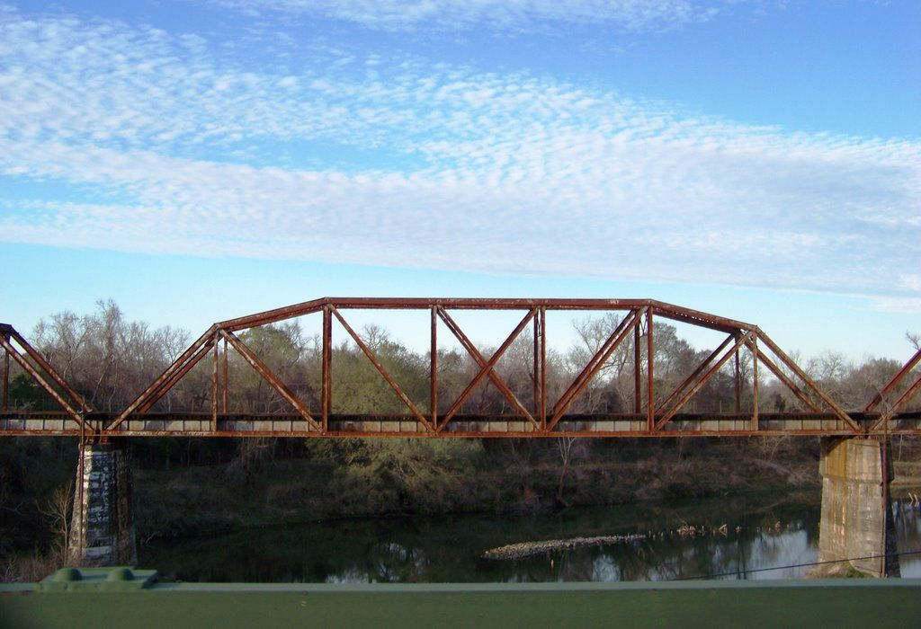 colorado river out of columbus, tx | Railroad Bridge over the Colorado River (Texas) (better get out now - LS)