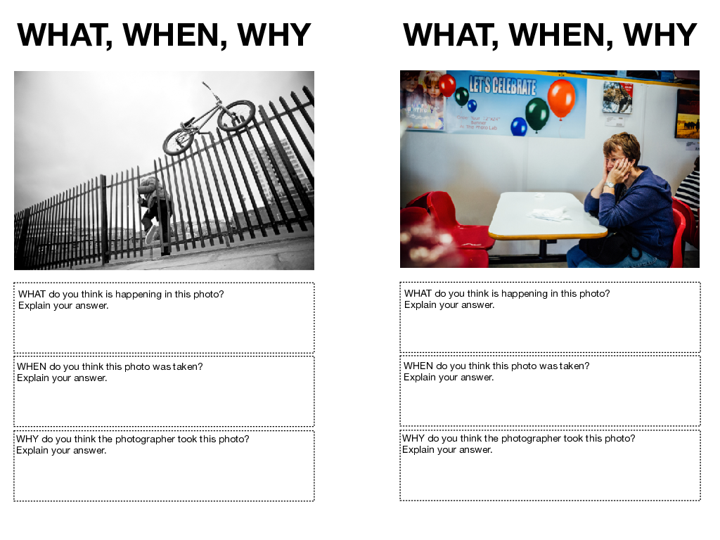 Photography Lesson Starters