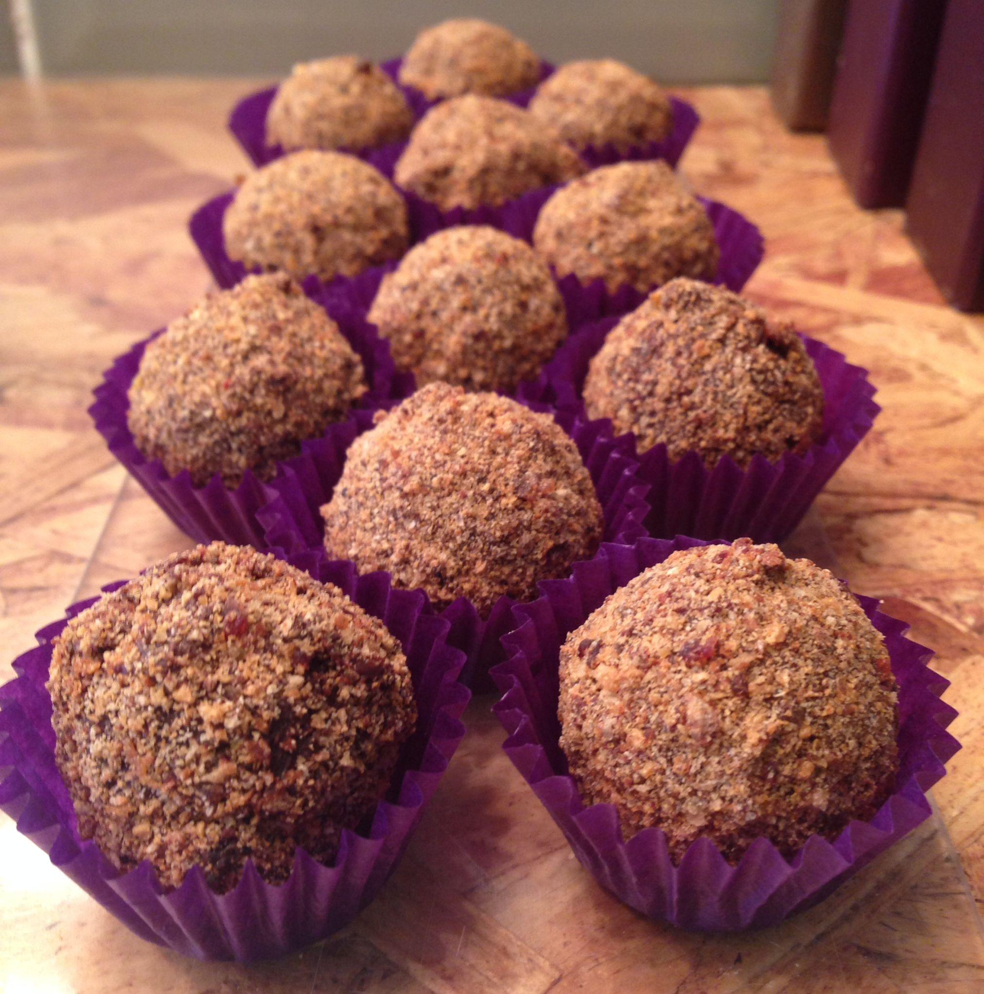 Hot cross bun chocolate truffles - rich, decadent